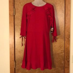 Flowy red holiday dress